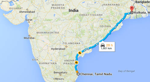 Chennai - Kolkata - Golden Quadrilateral - Spine Tourer