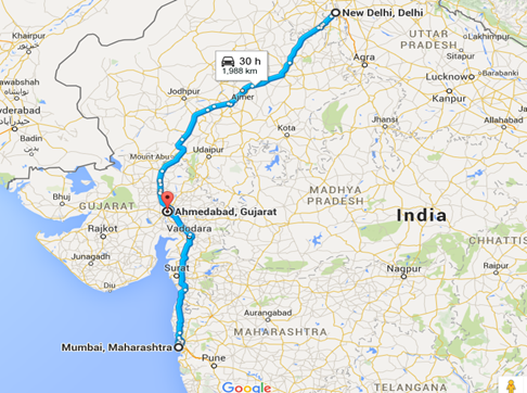 Delhi - Mumbai - Golden Quadrilateral - Spine Tourer