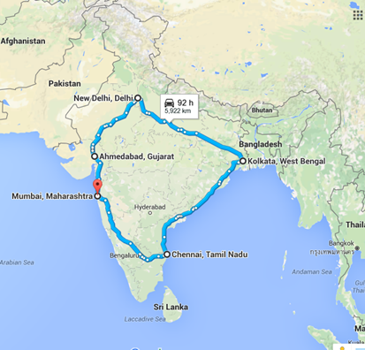 golden quadrilateral |spine tourer
