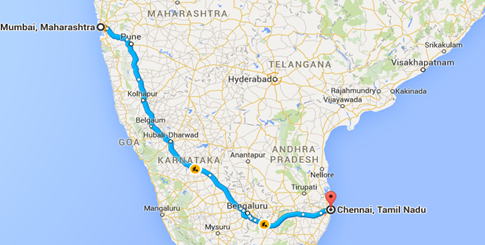 mumbai-chennai | golden quadrilateral | spine tourer